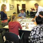 Students meet with representatives from the City of Springfield to work  on the Upper Lyman Warehouse District.