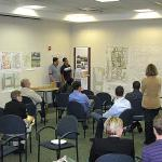 Supported by the UMass Amherst Design Center, the Senior Urban Design Studio worked in the Upper Lyman Warehouse District and presented their work on Wednesday, October 27 in downtown Springfield.