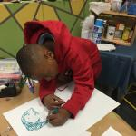 Artwork ongoing at Make-It Springfield in 2016.