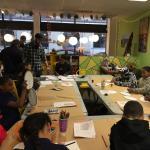 A public art workshop was in progress at Make-It Springfield in 2016.
