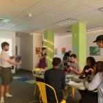 Quadcopters workshop for local high school students taught by UMass graduate student Ryan Wicks at Make-It Springfield in 2016.