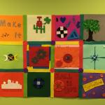 Electric quilt workshop outcome at Make-It Springfield in 2016.