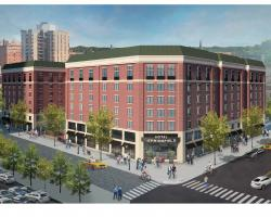 Design proposal for Hotel Springfield on site of existing parking garage (across from MassMutual Center).
